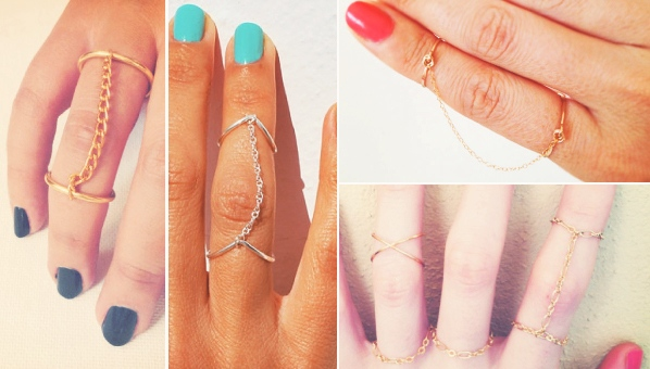 ring-with double-chain