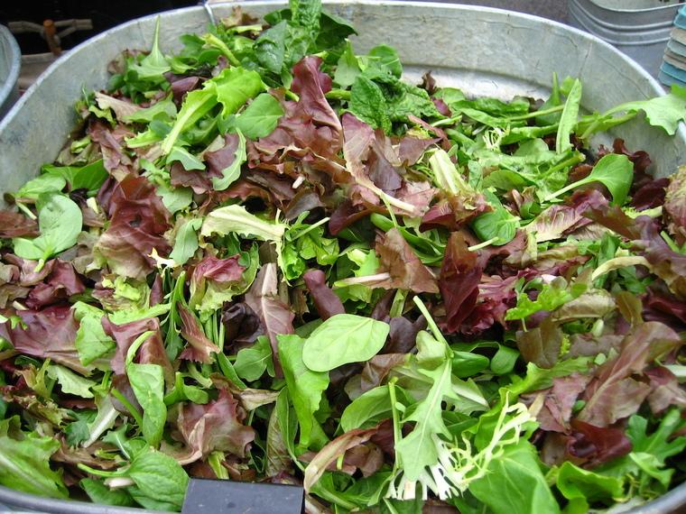 benefits green salad mesclun