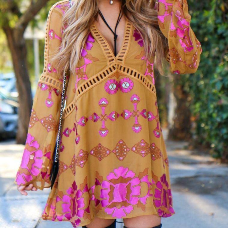 hippie boho woman blouse