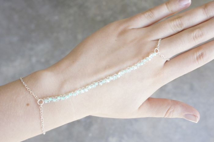 diy bracelet ring chain tutorial step by step to make oneself beads