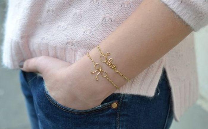 diy bracelet materials golden chain to manufacture oneself idea