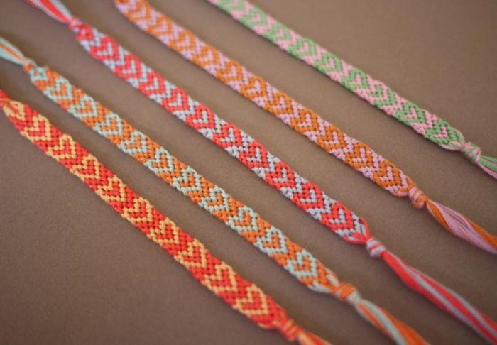 chevron diy bracelet accessory rope textile idea manufacture