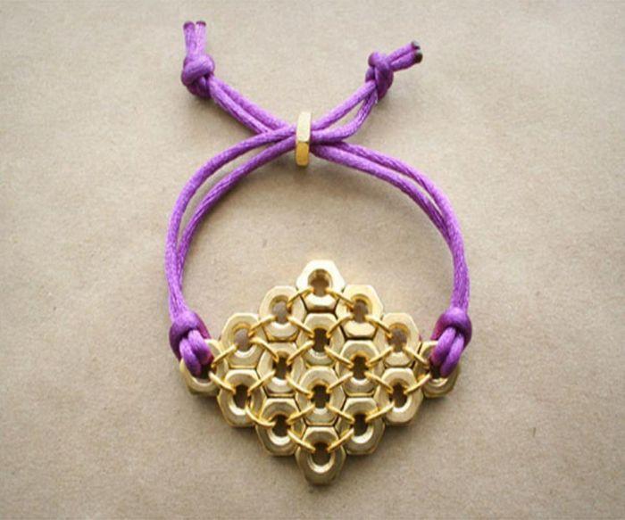 diy bracelet strings golden beads model DIY easy