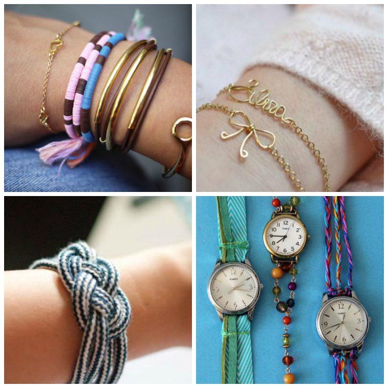 diy bracelet model to do self rope metal braid watch