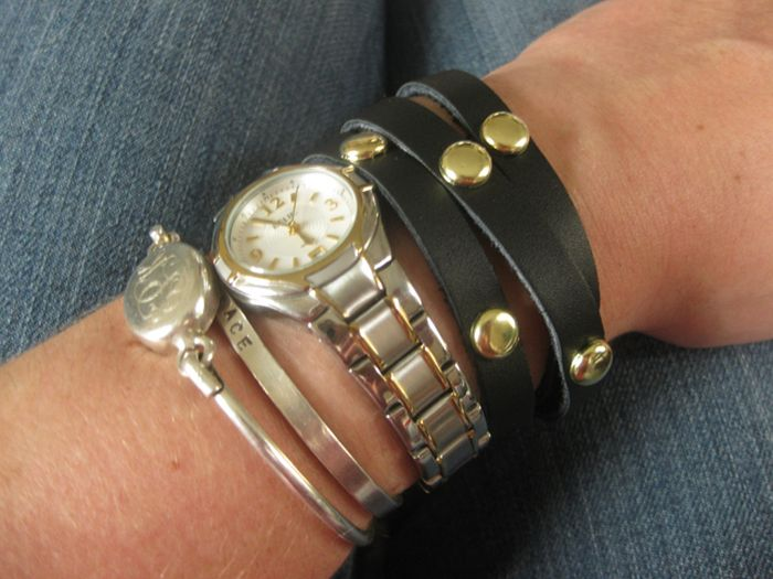 How to wear a diy bracelet beads black leather accessories