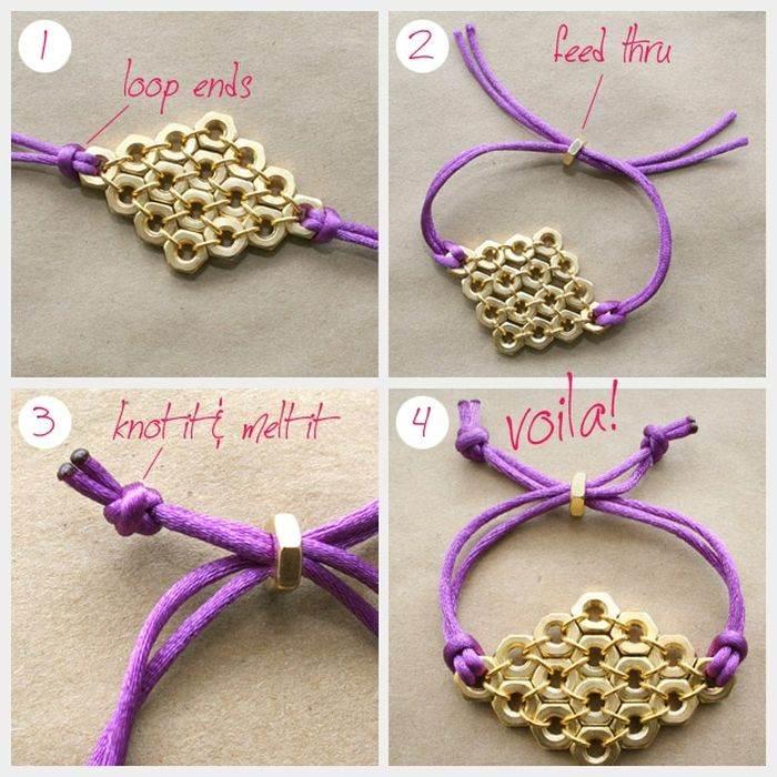 diy bracelet rope tutorial diy accessory trend gold
