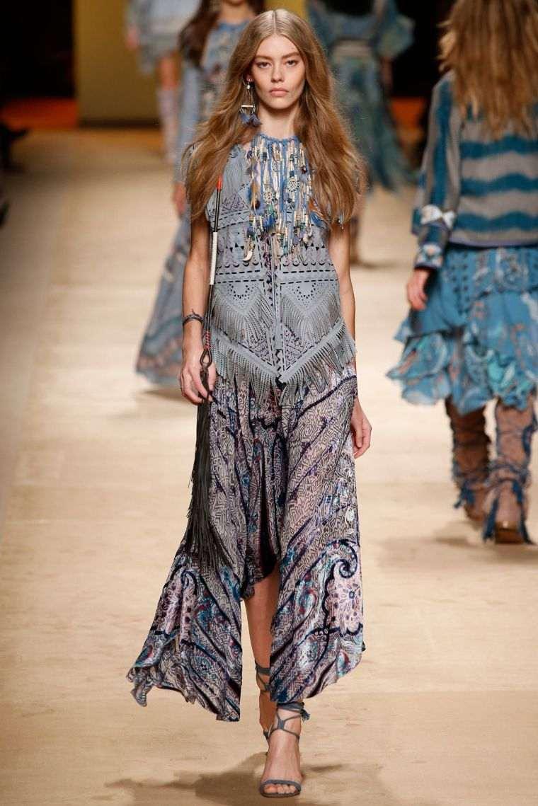 boho chic fashion woman spring