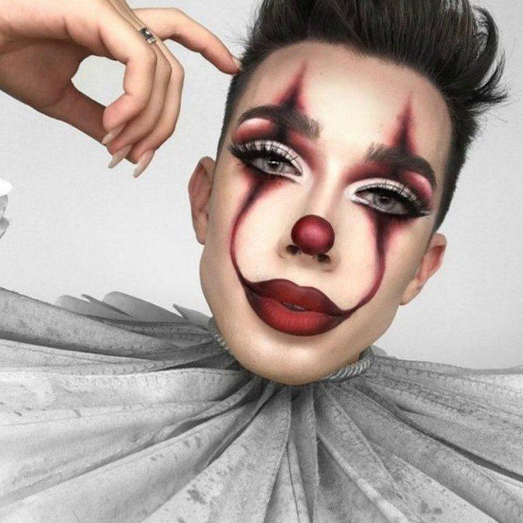 clown halloween makeup idea
