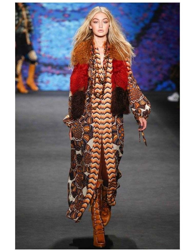 bohemian look chic trendy woman