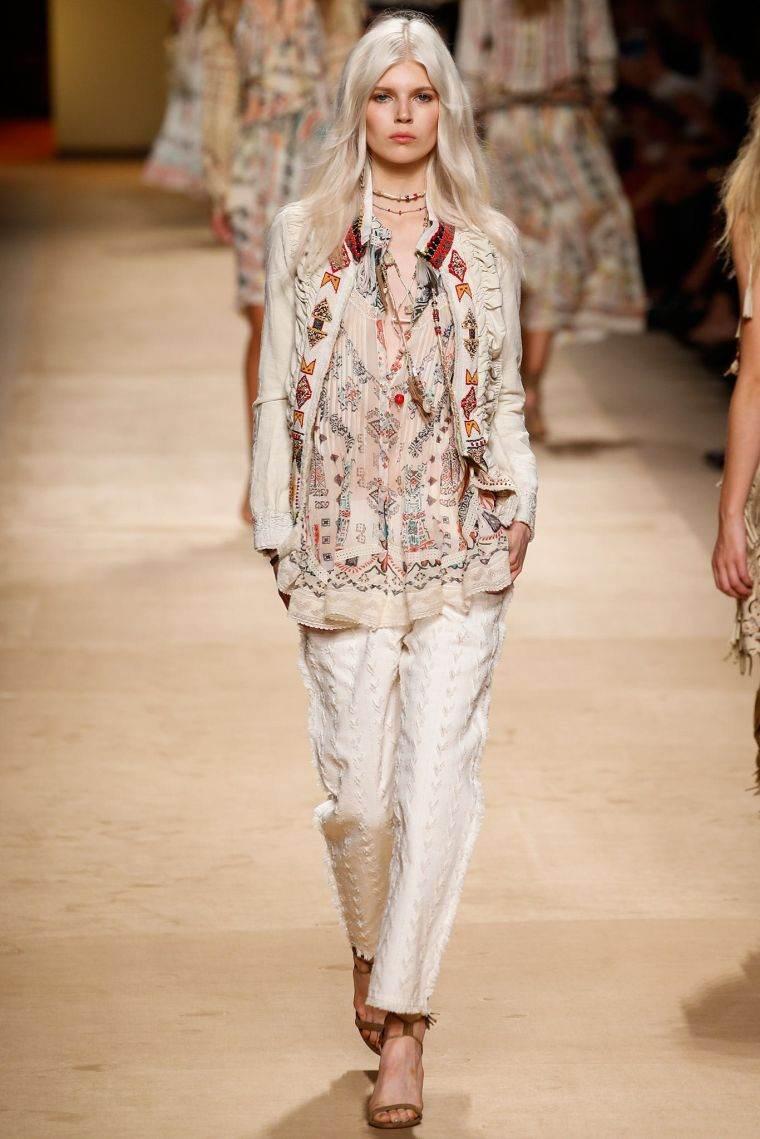 fashion bohemian chic woman pants