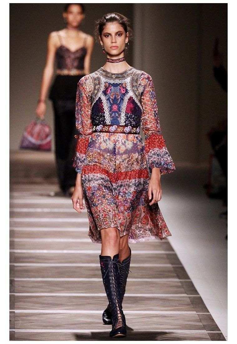 bohemian fashion chic woman spring