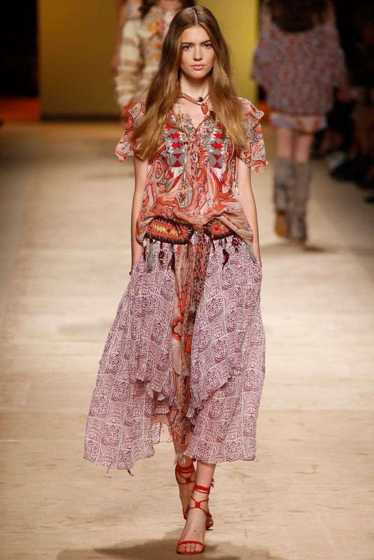 fashion bohemian chic trendy woman spring