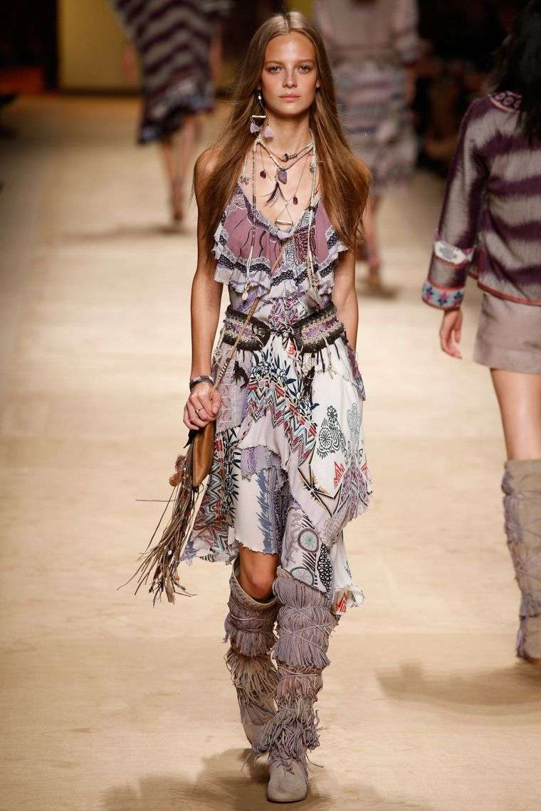 bohemian fashion chic idea spring