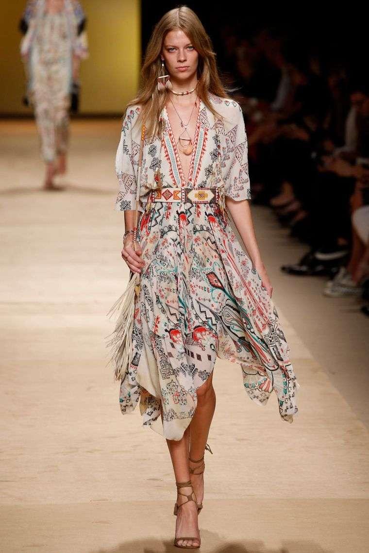 fashion bohemian chic dress spring