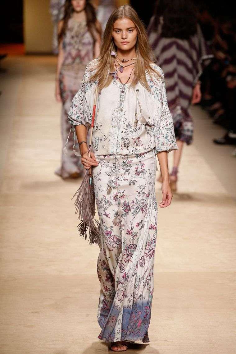 Bohemian chic fashion style woman