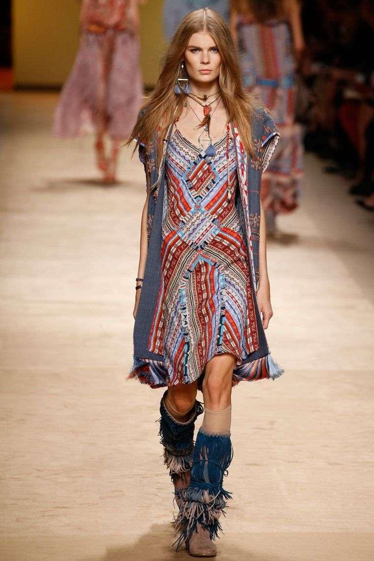 bohemian fashion chic woman outfit