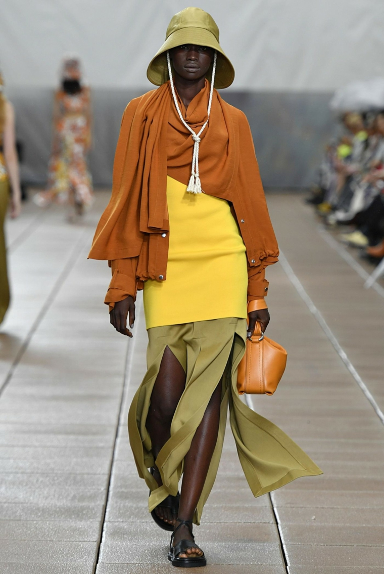color palette fashion spring 2019 woman look