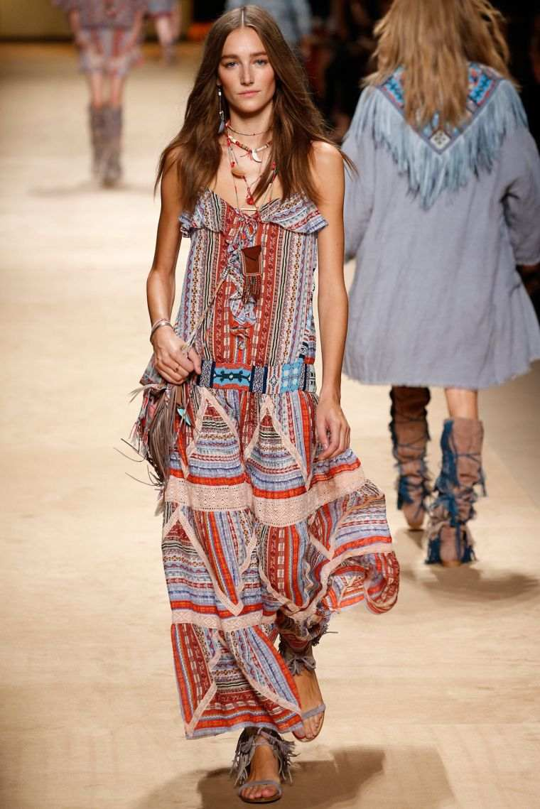 spring boho chic look