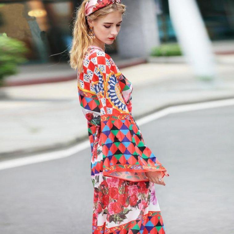 short boho chic woman dress