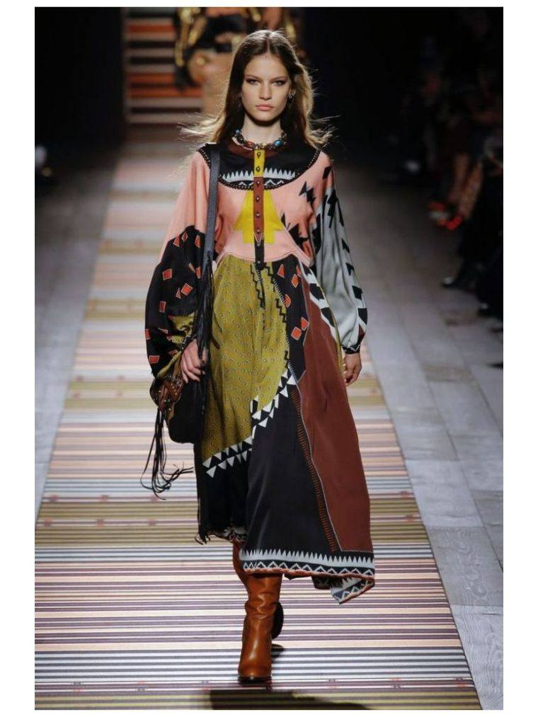 bohemian chic woman's long dress