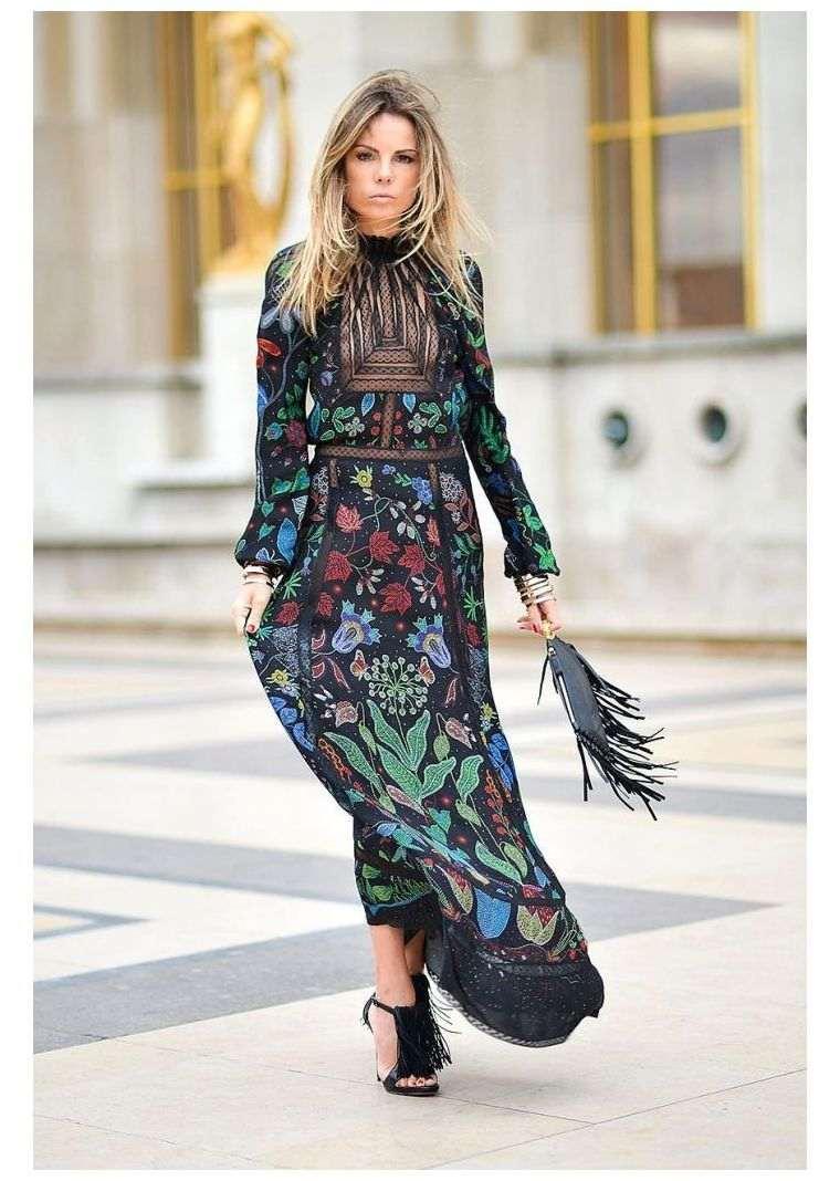 long dress boho chic style