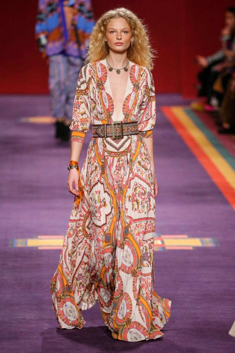 chic bohemian floral dress