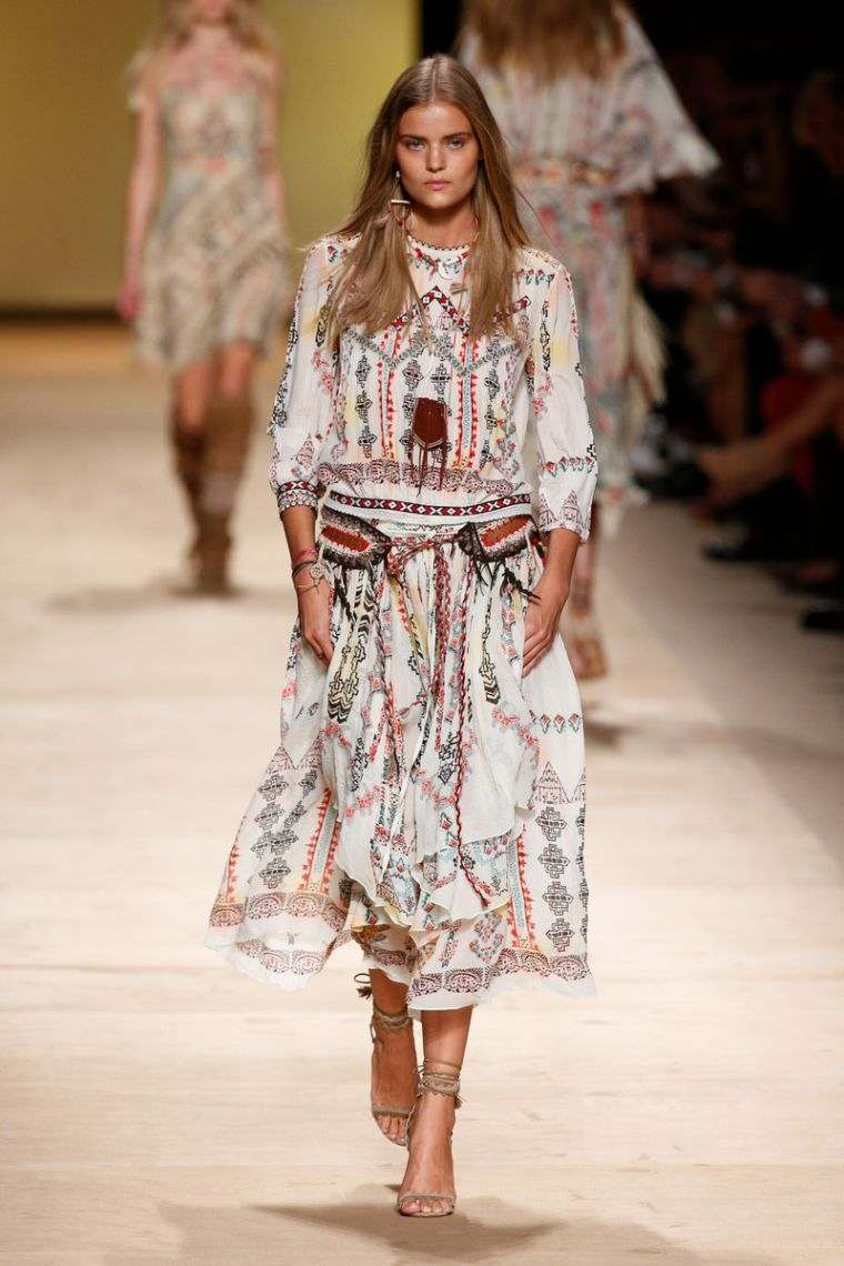 boho style spring dress