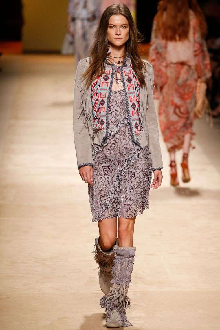 Bohemian style chic trendy woman