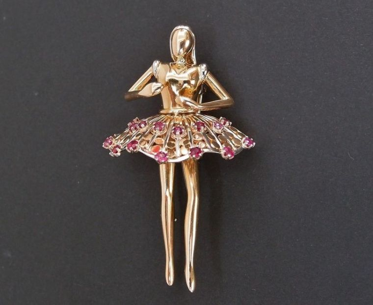 transform an old jewel paris pin ballerina