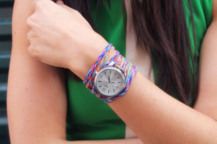 bracelet model shows to do it yourself rope tutorial DIY