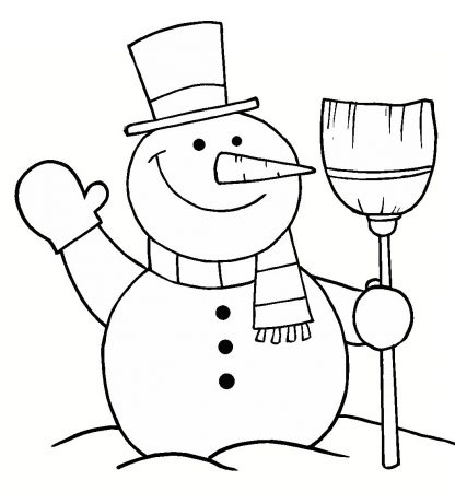Christmas drawings coloring 1