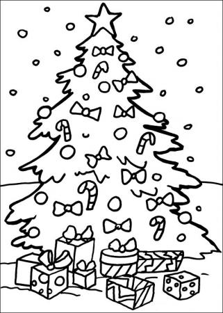 Christmas tree to paint