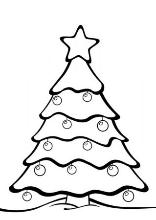 drawings of trees christmas coloring snow