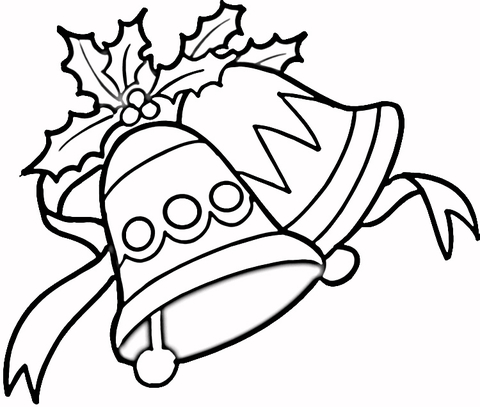 christmas drawings with bells