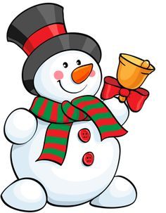 Christmas drawings with snow doll color