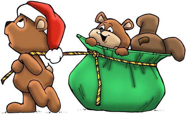 christmas drawings with color christmas bears