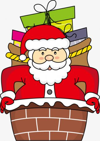 christmas drawings with color santa claus fireplace