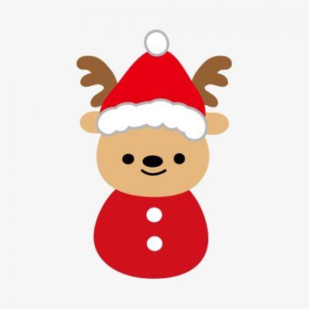 Christmas drawings with minimalist reindeer color