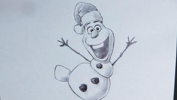 christmas drawings olaf