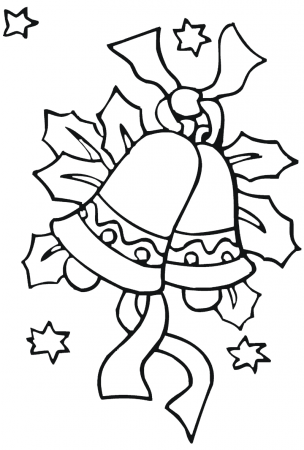 christmas drawings coloring bells