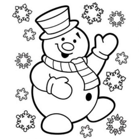 christmas drawings coloring snow muneco