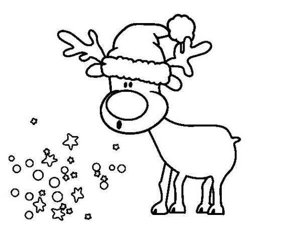 christmas drawings reindeer