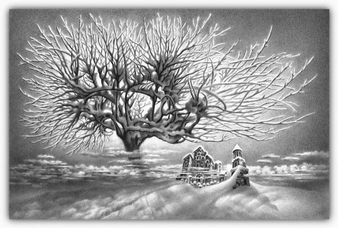 drawings made snow christmas pencil 29