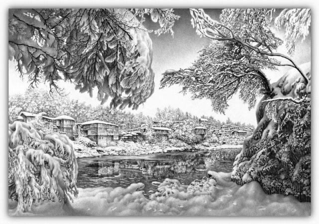 drawings pencil christmas snow 40