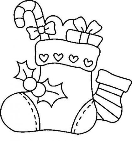 Christmas tracing drawings Christmas boot