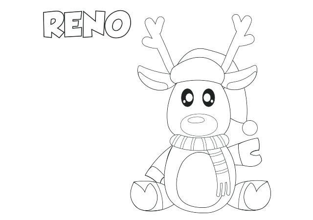 coloring pictures reindeer coloring drawings of christmas reindeer