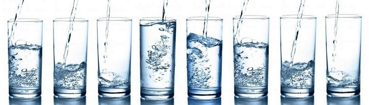 water for good hydration and a flat stomach
