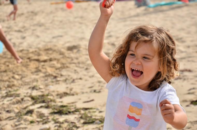 happy child having unforgettable childhood