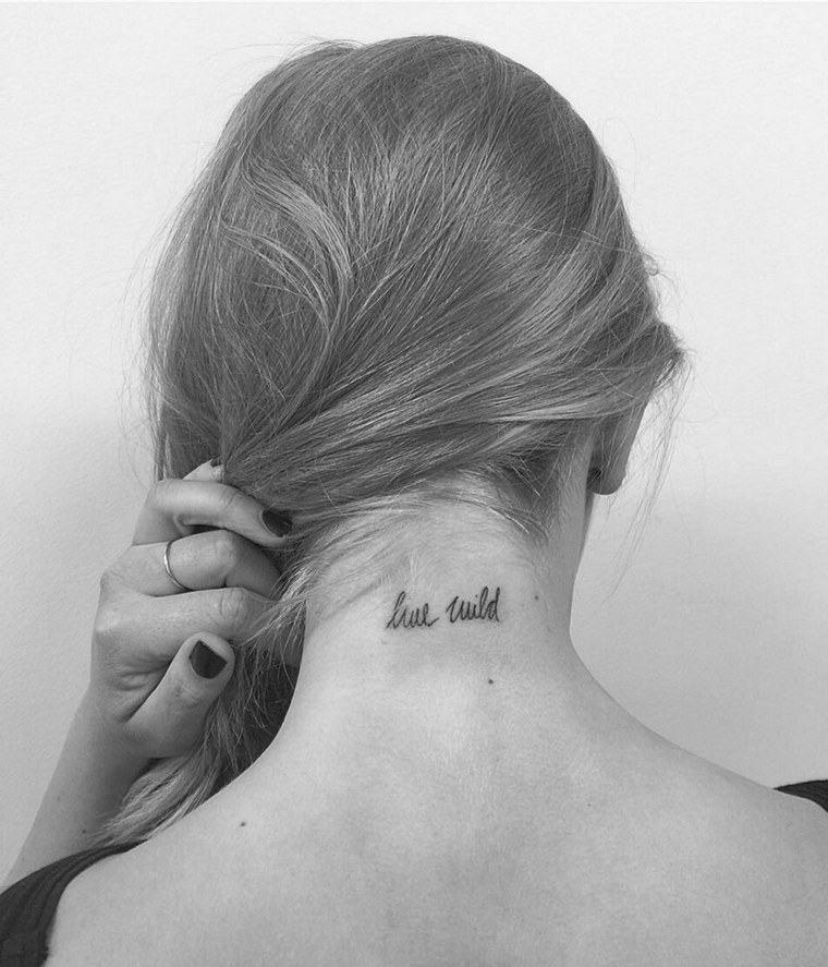 first tattoo woman's neck