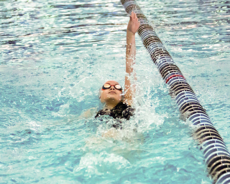 learn to swim style back crowle